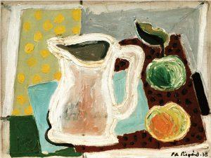 Per Siegård (1887 - 1961) Bringare och äpplen, 1938, Olja på duk