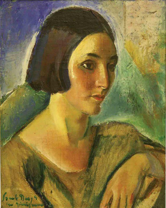 Svante Bergh (1885 - 1946) Porträtt 1926, Olja på duk