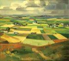 Gerhard Wihlborg (1897 - 1982) Slättlandskap, 1934, Olja på duk