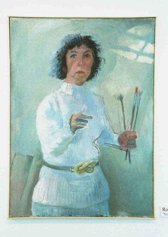 Rolf Svedberg Porträtt av skådespelerskan Vera Nordin, Olja på duk