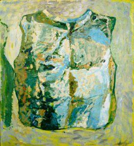Gerhard Nordström (f. 1925) Ur leran (bröstharnesk), Olja på duk