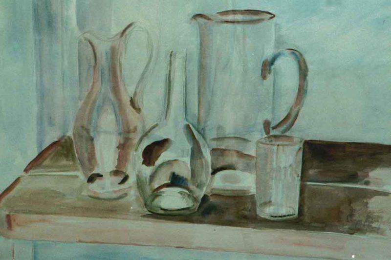 Sonja Reinfeldt Uppställning, Akvarell