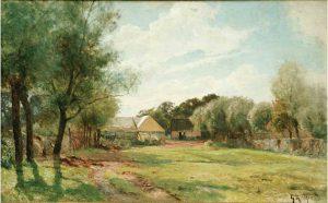 Gustav Rydberg (1835 - 1933) Smedjan i Skanör, 1910, Olja på duk