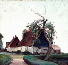 """Anders """"Artist"""" Olsson (1880 - 1955) Tidig morgon, 1924, Olja på duk"""
