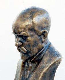 """Anders """"Artist"""" Olson (stavar med 1 s) (1880-1955) Brons"""