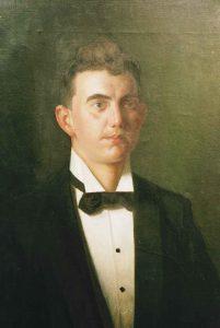 Anders Trulson (1874 - 1911) Porträtt av Edvin Sjöstedt, 1898, Olja på duk