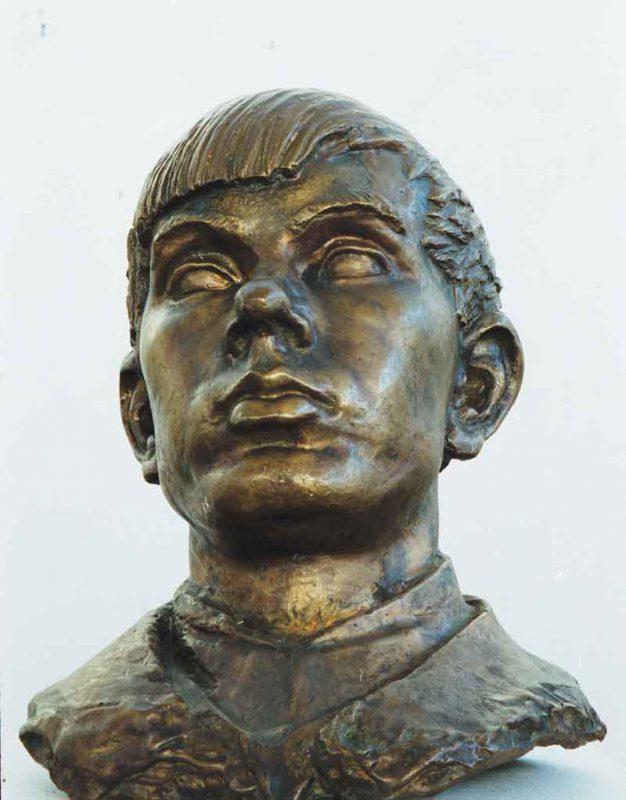 Nils Möllerberg (1852 - 1954) Porträtt av Bror Hjort Brons efter gipsförlaga
