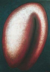 Bertil Arkrans (f. 1942 ) Terra madre, Målning på bearbetat trä