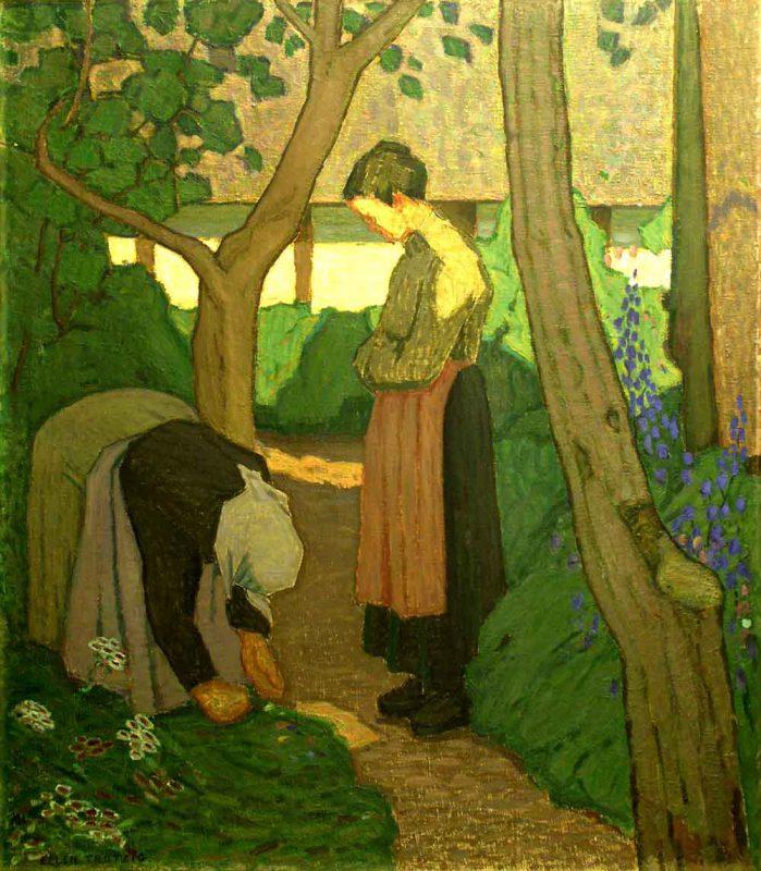 Ellen Trotzig (1879 - 1947) I Bengtas trädgård, Olja på duk
