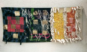 Hans Krondahl f 1929 Hommage á Dalai Lama, 1967, Blandteknik, textil