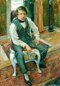 Henning Malmström (1890 - 1968) Självporträtt, 1932, Olja på duk