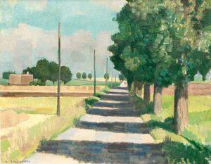 Johan Johansson (1879 - 1951) Vägen 1937, Olja på duk