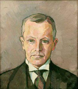 Henry Mayne (1891 - 1975) Självporträtt, Olja på duk
