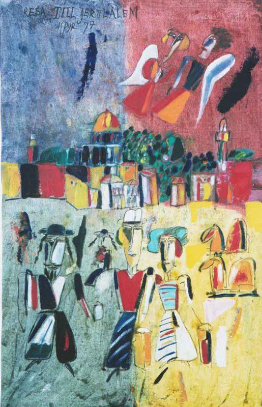Madelene Pyk Resan till Jerusalem, 1997 Olja på duk