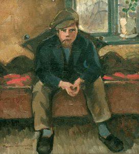 John Öhwall (1883 - 1964) Dräng, 1924, Olja på duk