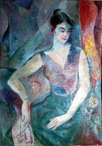 Jules Schyl (1893 - 1977) Damporträtt, 1921, Olja på duk