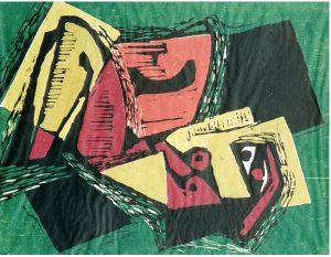 Viktor Kulle (1896 - 1982) Siesta, Färgträsnitt