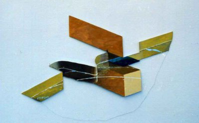 John Wipp (1927 - 2005) Utan titel, Målad utsågad plywood