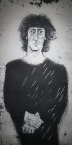 Leif Nelson, 1936- Porträtt av Jaques Werup1986 Etsning E